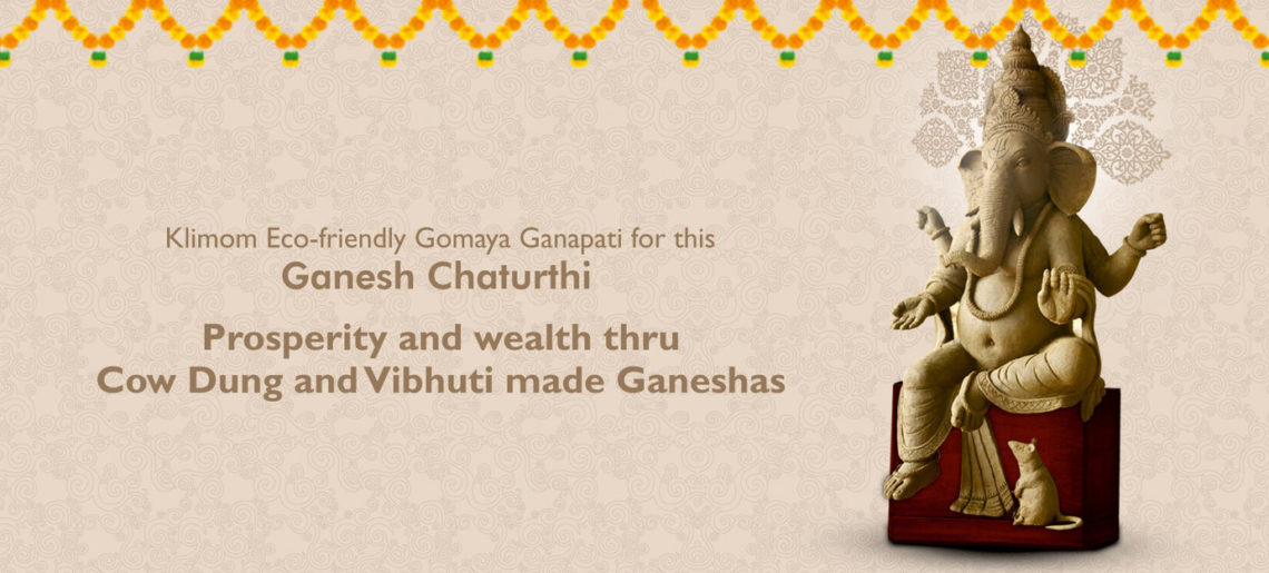 Prosperity and wealth through Cow Dung and Vibhuti made Ganeshas